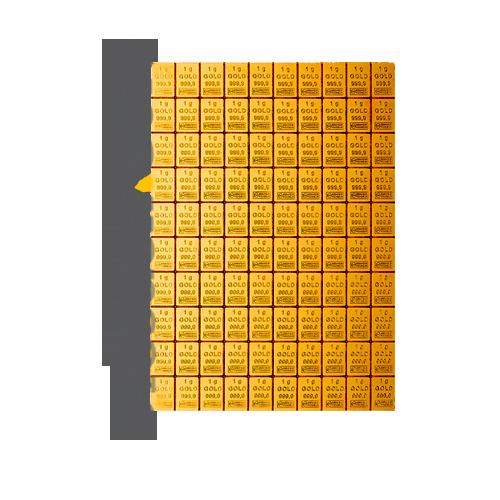 CombiBar 100g Gold Vorderseite