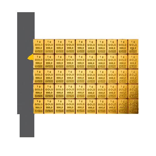CombiBar 50 g Gold Vorderseite