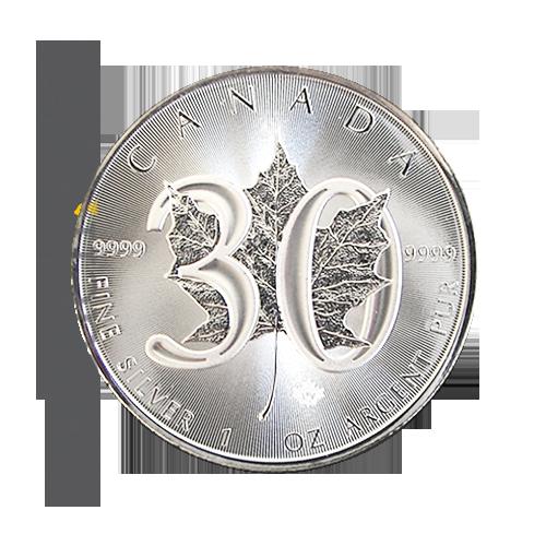 Maple Leaf 1 Oz Silbermünze 30 Jahre Jubiläum
