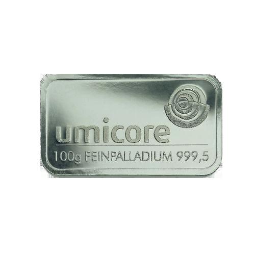 Palladiumbarren 100 Gramm