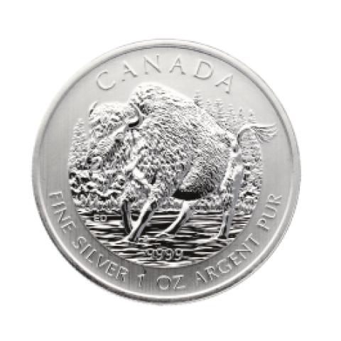 Canadian Wildlife Series - Bison 1 oz