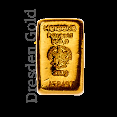 Goldbarren 250 g Heraeus