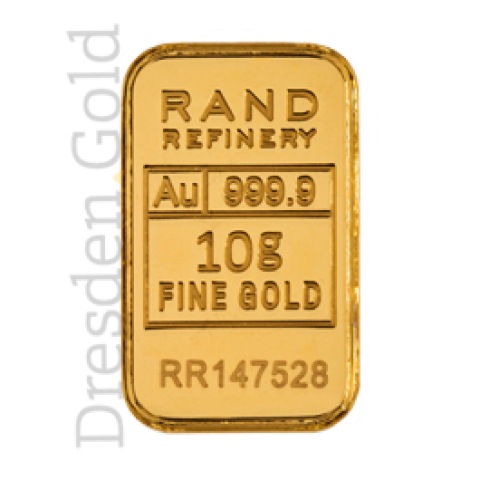 Goldbarren 10 g Rand Refinery