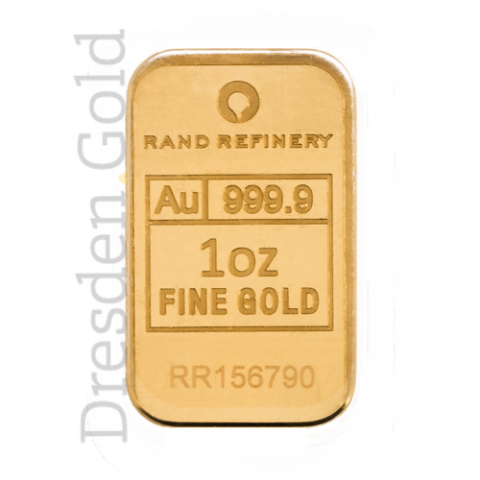 Goldbarren 1 oz Rand Refinery