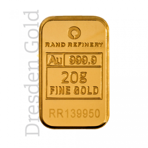 Goldbarren 20 g Rand Refinery
