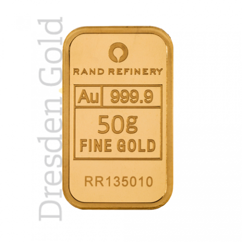 Goldbarren 50 g Rand Refinery