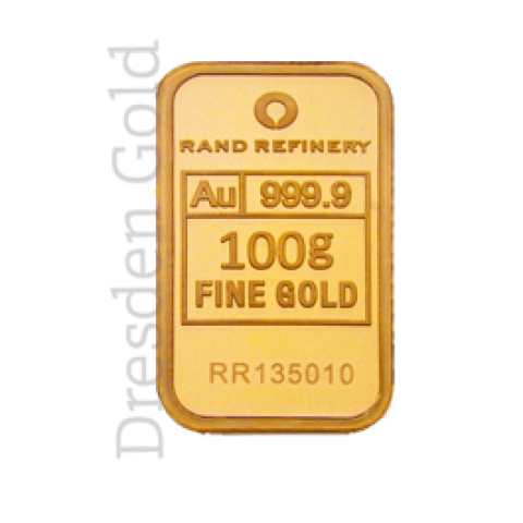 Goldbarren 100 g Rand Refinery
