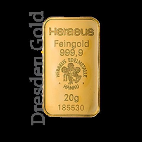 Goldbarren 20 g