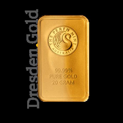 Goldbarren 20 g Perth Mint