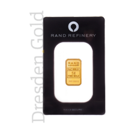 Goldbarren 5 g Rand Refinery