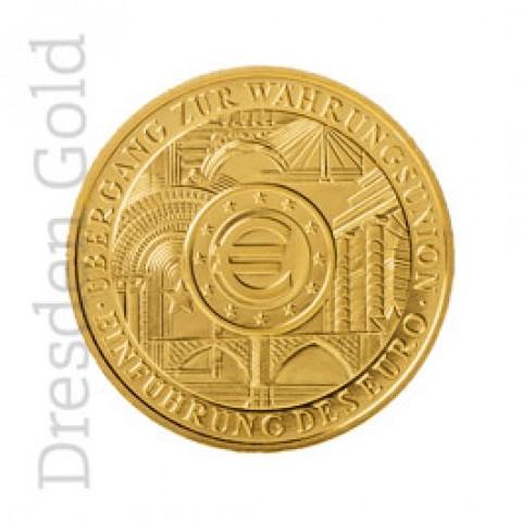 Goldmünze 100 Euro Währungsunion
