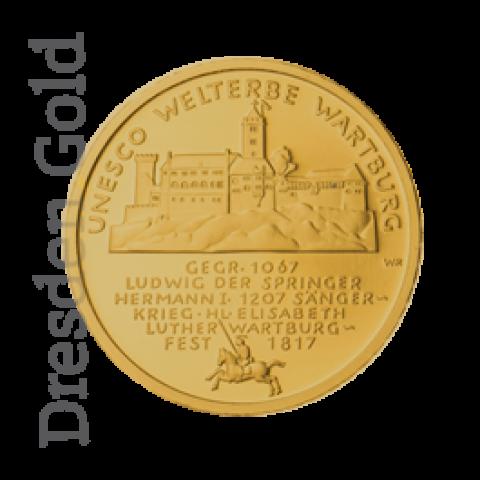Goldmünze 100 Euro Wartburg