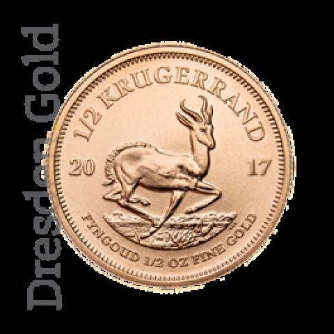 Krugerrand 1/2 oz verschiedene Jahrgänge