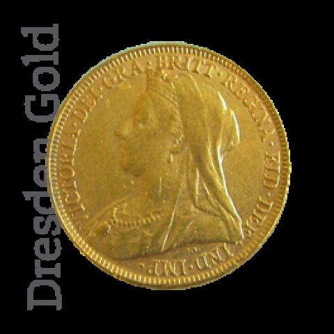 """Victoria """"Old Head"""" - 1 Pfund Sovereign Goldmünze Großbritannien"""