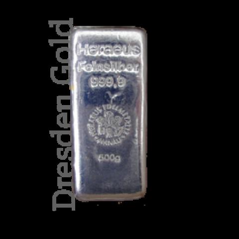Silberbarren 500 g