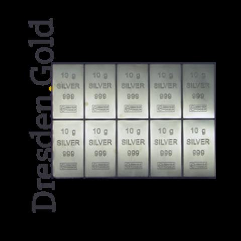 CombiBar 10 x 10 g Silber