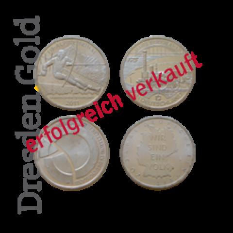 4x 10 Euro Silbermünze
