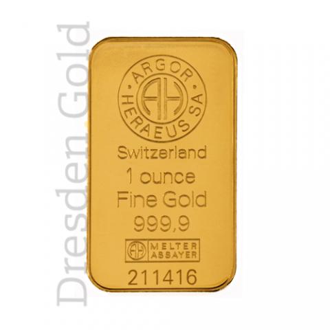 Gold bar 1 oz Argor-Heraeus