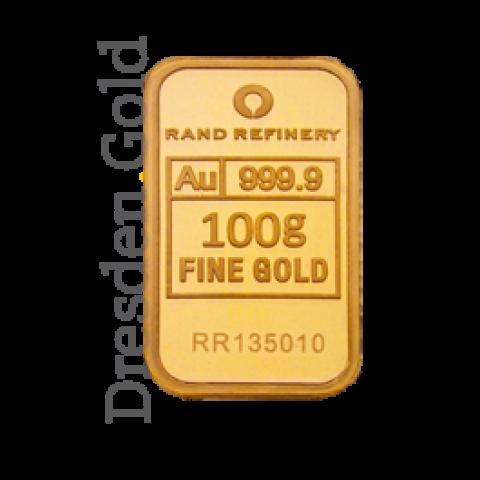 Gold Bar 100 g Rand Refinery