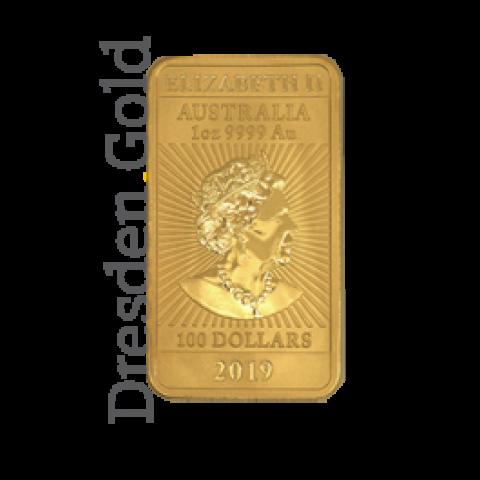 Gold coin bar 1 ounce Perth Mint