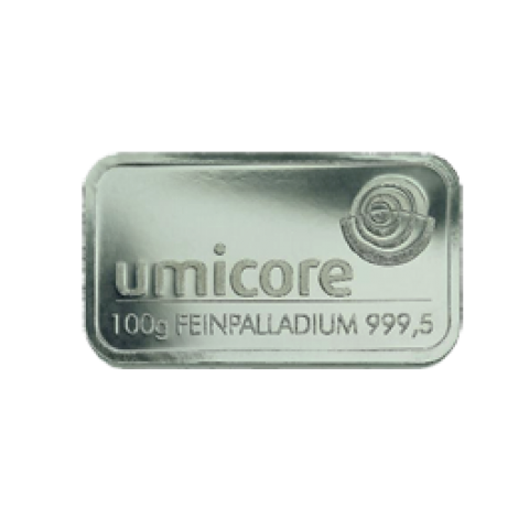 Palladium bar 100 grams