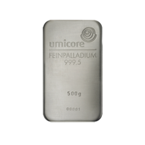 Palladium bar 500 g