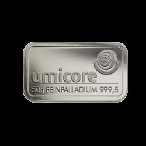 Palladium bar 50 grams